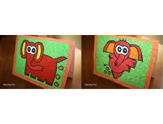 Elephant Poo Greeting Card