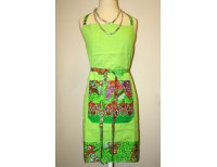 Green Floral Apron