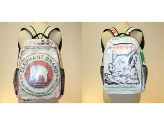 Backpack: Elephant and Pig