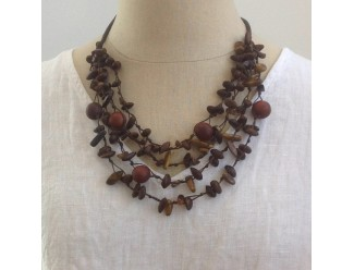 Khmer Creations Natural Knotted Necklace